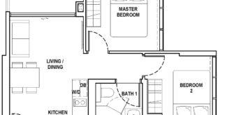 fyve-derbyshire-floor-plan-2-bedroom-a1-singapore